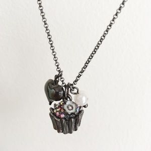 Betsey Johnson Cupcake Charm Necklace